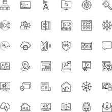 Internet Vector Icon Set Such ...