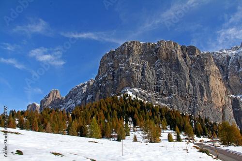 i bastioni occidentali del gruppo del Sella; Dolomiti, Alto Adige Poster Mural XXL