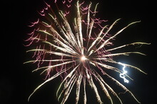 Large Red And Gold Fireworks