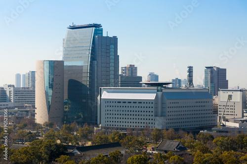 Fototapeta 大阪府警察本部とNHK大阪