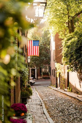 Fototapeta acorn street boston