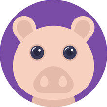 Pig, An Omnivorous Domesticated Hoofed Mammal With Bristly Hair And A Flat Snout