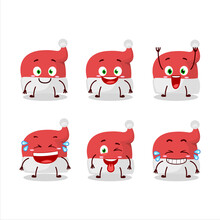 Cartoon Character Of Red Santa Hat With Smile Expression
