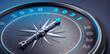 canvas print picture - Dunkler Kompass mit Lichtspiel - 2021