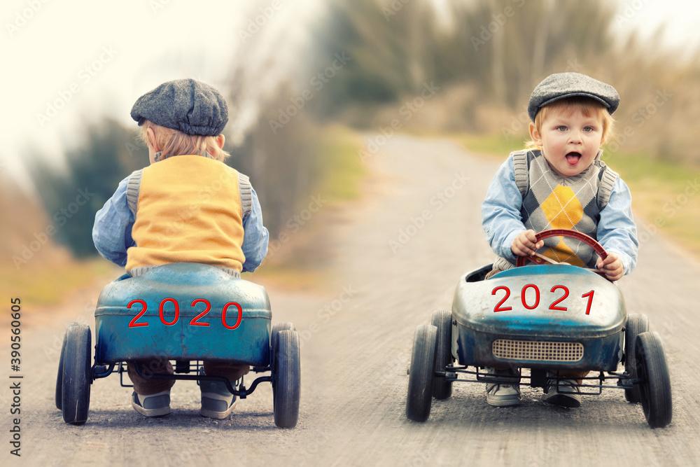 Fototapeta Jahreswechsel von 2020 zu 2021