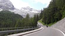 Strada Di Montagna In Moto