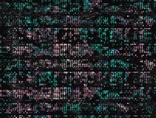 Grungy Degrading Binary Code D...