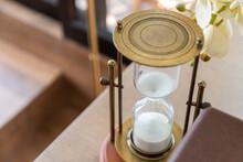 Vintage Bronze Hourglass On Ta...