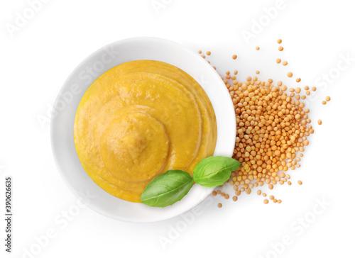 Fotografering Spicy mustard with mustard seeds