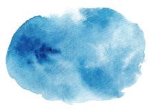 水彩 青い滲み背景