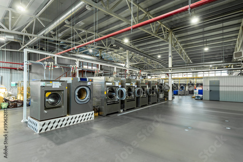 industrial laundry, large workshop