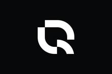 QR Logo Letter Design On Luxury Background. RQ Logo Monogram Initials Letter Concept. QR Icon Logo Design. RQ Elegant And Professional Letter Icon Design On Black Background. Q R RQ QR