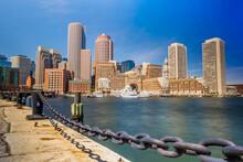 The Boston Financial District ...