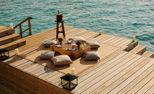 Overwater Deck At A Luxury Res...