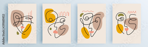 Fotografia Modern abstract covers set, minimal covers design