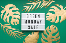 Green Monday Sale Text On Whit...