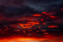 A Great Sunset Sky Crossed By ...