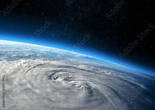 Fototapeta Earth and Hurricane. Elements of this image furnished by NASA.
