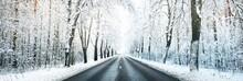 Snow-covered Empty Highway (ne...