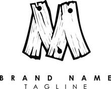 Letter Wood Alphabet Logo Monogram Design