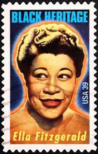 Ella Fitzgerald On American Postage Stamp
