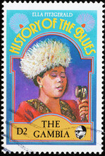 History Of The Blues, Ella Fitzgerald On Postage Stamp