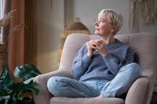 Caucasian Senior Woman Relaxin...