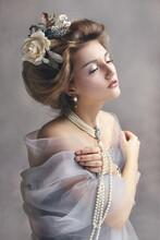 Girl Styled Like An Antic Princess