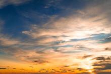 Cloudy Sunrise Over Lake Michigan