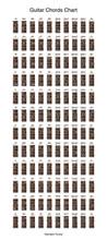 Guitar Chords Chart Set, Vecto...