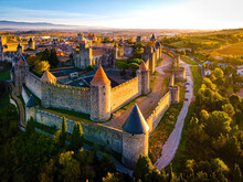 Aerial View Of Carcassonne, A ...