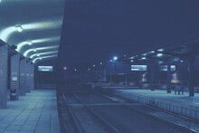 Train Station In The Night