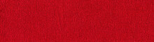 Handmade Knitted Fabric Red Wool Background Texture
