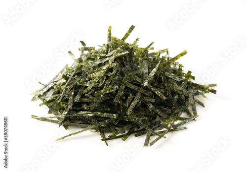 Fototapeta Chopped seaweed on a white background obraz