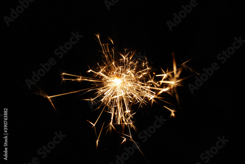 Tela Abstract shot of a burning firework fuse