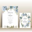 Luxury and elegant floral wedding invitation card template
