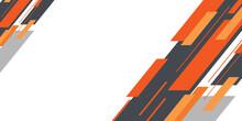 Orange Black Grey Abstract Arrow Flat Presentation Background