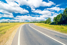 Asphalt Road Leading Into The ...
