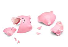 Coin Finance Saving Money Piggybank Business Investment Banking Piggy Bank Pig Broken Poverty Recession