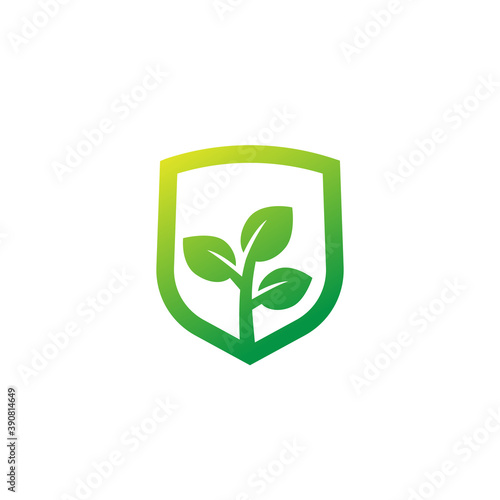 crop protection or insurance icon, vector logo Fototapet
