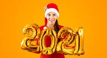 New Year 2021 Gold Balloons. Y...
