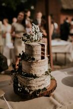 Naked Cake On A Boho Wedding