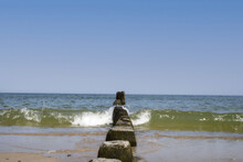 Wooden Groynes At The  Baltic ...