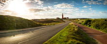 Road To Iconic Lighthouse Surr...