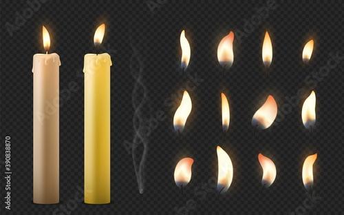 Fotografija Realistic burning candle