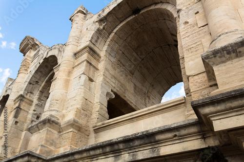 Details of an arch of a coloseum Billede på lærred