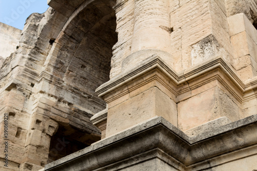 Details of the architecture of a coloseum Fototapet