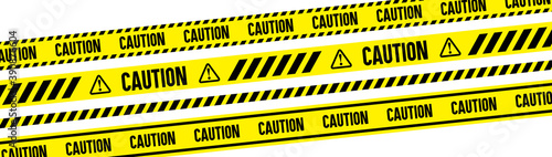 Fototapeta warning danger caution keep out tape, vector material