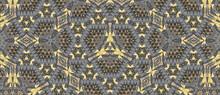 Seamless Blue Gray Kaleidoscopic Pattern