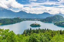 Summer Lake Bled From Viewpoin...